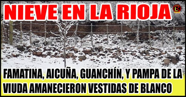 Hoy La Rioja vive el día más frío del año: te mostramos todas las fotos
